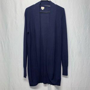 a.n.d. ea wy navy blue open long cardigan size M